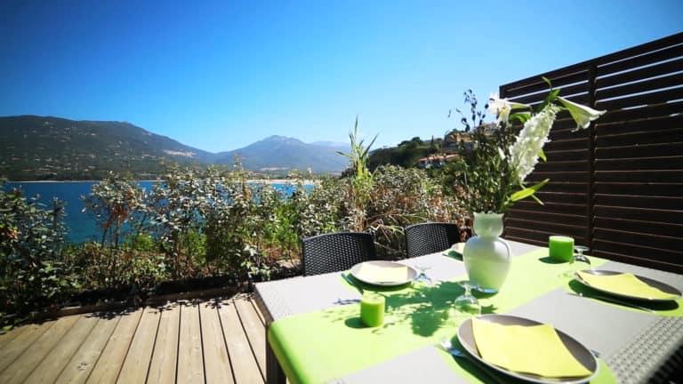 Terrasse vue mer Appartement Confort Sampiero Corso Propriano